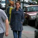 Natalie Portman Walking Her Dog In New York City 2008-04-22