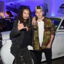 Steven Tyler and Brooklyn Beckham attend the Givenchy SS16 after party on September 11, 2015 in New York City.