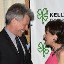 Jon Bon Jovi and Myra Biblowit attend the 5th Annual Irish Eyes Gala at JW Marriott Essex House on March 16, 2015 in New York City.