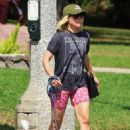 Kristen Bell – Takes her white pooch on a walk through Griffith Park in Los Angeles