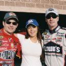 L-R: Jeff Gordon, Lindsay Lohan, Jimmie Johnson. Photo credit: Richard Cartwright. - 454 x 300