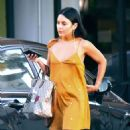 Vanessa Hudgens in Mini Dress Out in Los Angeles - 454 x 568