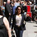 Salma Hayek - In NYC On Way To Letterman, June 21, 2010