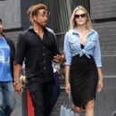 Gary Dourdan and an unidentified blonde woman are spotted walking around Manhattan's Soho neighborhood on September 2, 2016 - 434 x 600
