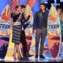 Shailene Woodley, Ansel Elgort and Nat Wolff At The Teen Choice Awards 2014