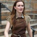 Leighton Meester - Gossip Girl Set In New York City, 2010-07-13