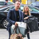 Aaron Paul and his wife Lauren Parsekian are seen arriving at The Bowery Hotel in New York City, New York on March 31, 2016