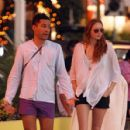 Lily Cole and Enrique Murciano  in St. Barthelemy - January 1, 2009