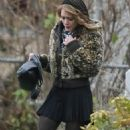 Hilary Duff On The Set Of SAFETY GLASS In Vancouver, 2007-12-11