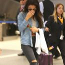 Selena Gomez and Cara Delevingne At Lax Airport