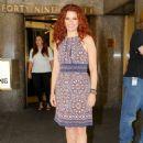 Debra Messing – Leaving NBC Studios in NYC - 454 x 655
