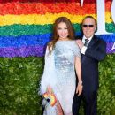 Thalia  and Tommy Mottola- 73rd Annual Tony Awards - Red Carpet - 384 x 600