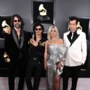 Andrew Wyatt, Anthony Rossomando, Lady Gaga, and Mark Ronson At The 61st Annual Grammy Awards 2019 - Arrivals - 400 x 600