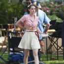 Kristen Stewart On The Set Of Woody Allen Movie