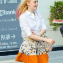 Dakota Fanning: Pretty Pink Coif in Beverly Hills
