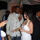 Kim Kardashian & Reggie Bush Dine At STK Restaurant In West Hollywood 2008-06-24