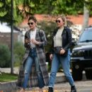 Lucy Hale with a friend out in Los Angeles