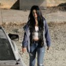 "Selena Gomez: visited on the set of ""Getaway"""