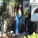 Addison Rae – Seen outside a friend's house in Los Angeles