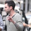 Adam Levine on the set of Can A Song Save Your Life in the West Village