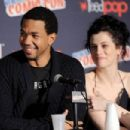WGN America's Underground star Jessica de Gouw during panel discussion at New York Comic Con 2016 at Jacob Javits Center on October 9, 2016 in New York City - 454 x 303