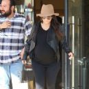 Kourtney Kardashian In Tights Shopping In Beverly Hills