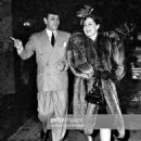 Norma Shearer and George Raft  pose as they enter the Beverly Wilshire Hotel in Beverly Hills,Calif 1940 - 454 x 610