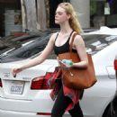Elle Fanning in Sports Bra – Leaves the gym in LA