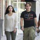 Prince Jackson, son of the lat Michael Jackson, walking around with his girlfriend Remi Alfalah in Beverly HIlls, California on August 3, 2013