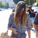 Hilary Swank Leaving Alfreds Kitchen In West Hollywood