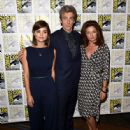 "Actress Jenna Coleman attends the BBC America ""Doctor Who"" photo call during Comic-Con International 2015 at the Hilton Bayfront on July 9, 2015 in San Diego, California"