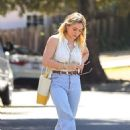 Hilary Duff – Out for coffee in Studio City