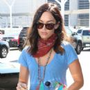 Megan Fox – Arriving at LAX Airport in Los Angeles - 454 x 681