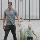 Josh Duhamel- May 27, 2016- Enjoys Breakfast With His Son