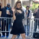 Tyra Banks in Mini Dress – Leaves The View in New York