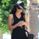 Naya Rivera seen leaving a laser hair removal center in Studio City, California on September 3, 2014
