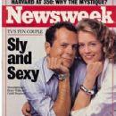 Cybill Shepherd, Bruce Willis - Newsweek Magazine Cover [United States] (8 September 1986)