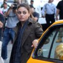 "Mila Kunis: worked on the set of her new movie ""The Angriest Man in Brooklyn"""