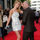 Red carpet arrivals at the 'Hummingbird' premiere in London on June 17, 2013. Jason Statham with his partner, Rosie Huntington-Whiteley