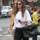 Irina Shayk: out and about in New York City