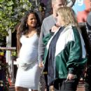 Christina Milian in White Dress – Leaving Mauro's Cafe in West Hollywood