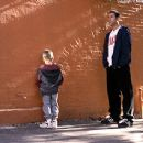 Cole and Dylan Sprouse goes potty while Adam Sandler looks on in Big Daddy