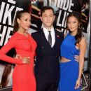 Joseph Gordon-Levitt with Dania Ramirez and Jamie Chung in New York City at the