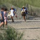 Solange Knowles in Denim Shorts at the Beach in The Hamptons - 454 x 303