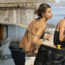 Elisabetta Canalis – Bikini candids at the beach in Malibu - 454 x 472
