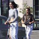 Amelia and Delilah Hamlin – Have fun with lime scooters in West Hollywood