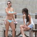 Selena Gomez & Francia Raisa enjoying a day on the beach in Malibu, California on June 23 - 454 x 550