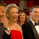 Bradley Cooper, Jennifer Lawrence and Nicholas Hoult At The 86th Academy Awards (2014)
