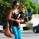 Jordana Brewster: runs errands with her son Julian in West Hollywood