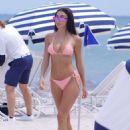 Chantel Jeffries in Pink Bikini on South Beach